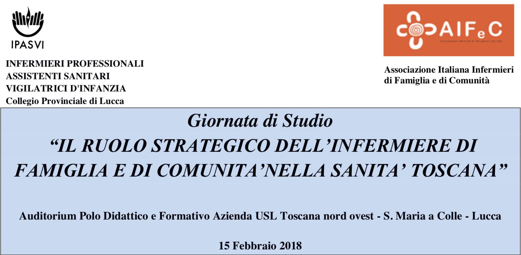 EVENTO ECM – Lucca 15/02/2018