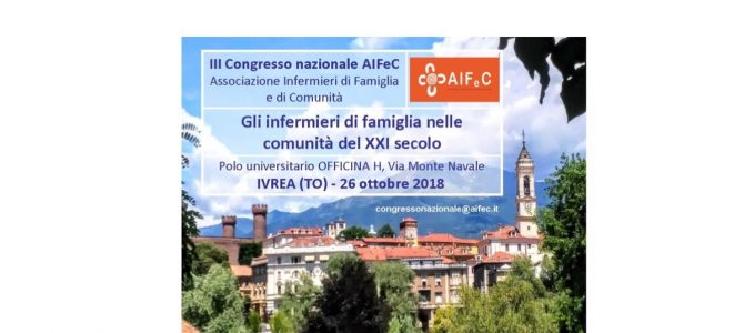 Save the date 26/10/2018: III Congresso Nazionale AIFeC