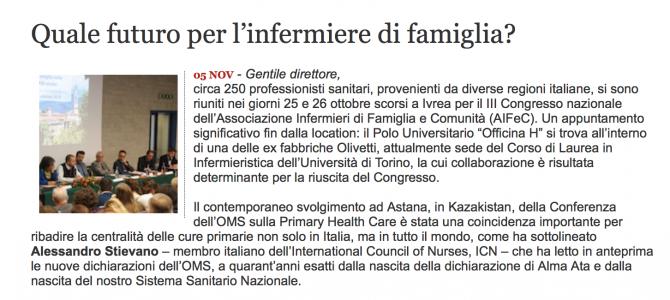 NEWS – Lettera di AIFeC a Quotidiano Sanità