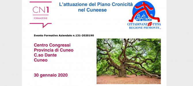 EVENTO – Cuneo, 30 gennaio 2020