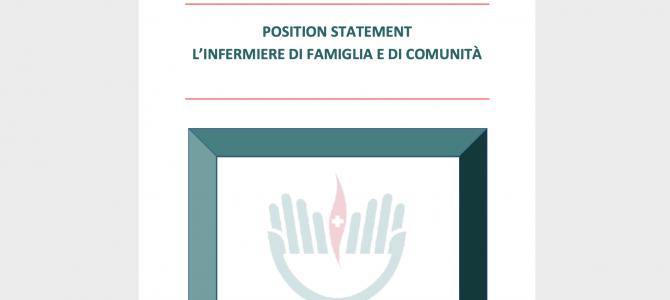 POSITION STATEMENT L'INFERMIERE DI FAMIGLIA E DI COMUNITÀ a cura della FNOPI