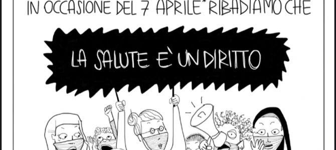 Un fumetto per festeggiare la Giornata mondiale della salute e la Giornata europea di azione contro la commercializzazione della salute